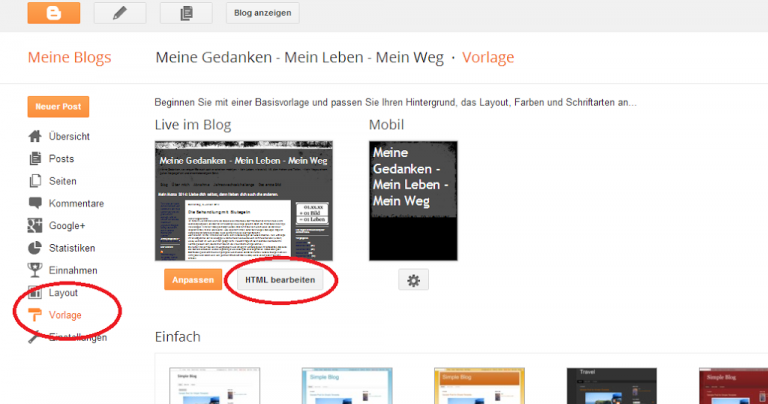 """Powered by Blogger"" entfernen"