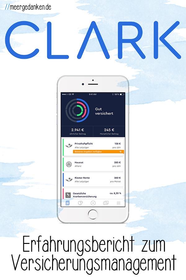 Ich habe das Versicherungsmanagement mit Clark ein Jahr getestet und habe nicht nur positive Erfahrungen gemacht, kann es aber trotzdem empfehlen.