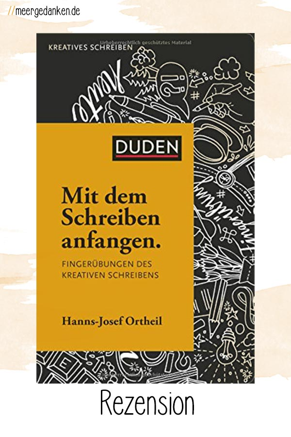 """""""Mit dem Schreiben anfangen"""" von Hanns-Josef Ortheil ist ein lehrreiches, aber auch irritierendes Buch. Wenn die anfängliche Skepsis überwunden ist, findet man viele hilfreiche Ideen um das Schreiben zu beginnen."""