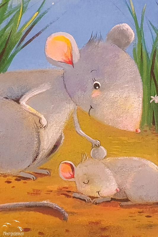 """Pappbilderbuch """"Wie kleine Tiere schlafen gehen"""" ... und krault der kleinen Maus das Ohr."""