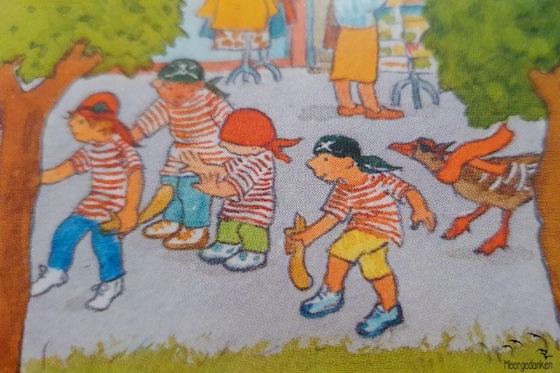 Detail aus dem Insel-Wimmelbuch Föhr aus dem Willegoos Verlag.