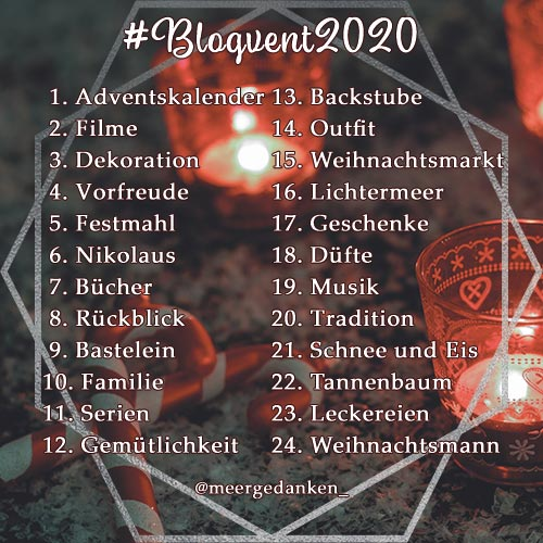 Themen der Adventsaktion #Blogvent2020