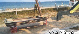 8 Spielplätze direkt an der Ostseeküste. Mit Meerblick und teilweise direkt am Strand in Scharbeutz und Haffkrug.