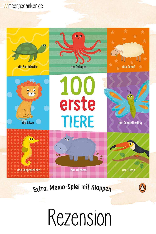 """""""100 erste Tiere"""" ist ein wunderbares erstes Bild-Wörterbuch für Kinder ab 2 Jahren oder jünger von Villie Karabatzie."""